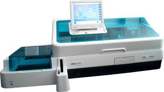 Автоматичний електрохемілюмінесцентний аналізатор Cobas E 411